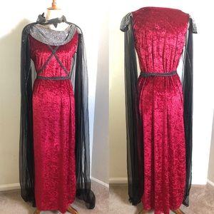 Spencer's Medieval Queen Velvet Collection Costume